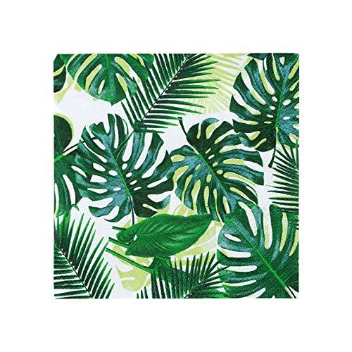 Talking Tables Tropical Fiesta, Papierservietten mit Blattmotiv. grün, 25 cm (20 Stück in 1 Design)