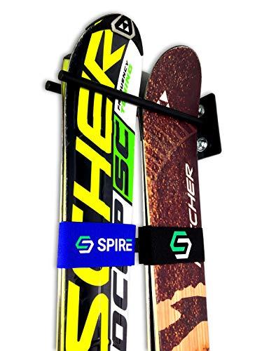 StoreYourBoard Couple Ski Wall Storage Rack, 2 Pack, Steel Home Skis Mount, Garage Hook Organizer