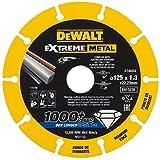Dewalt DT40251-QZ DT40251-QZ-Disco de Corte con Borde diamantado Extreme Metal 115x1.3x22.3 mm