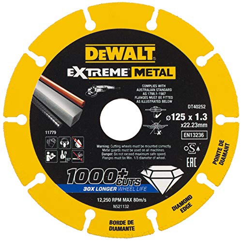DeWALT DT40254-QZ - Disco de corte de diamante (180 x 1,5 mm), color negro y amarillo