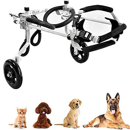 Adjustable Pet Wheelchair for Handicapped Cat Dog Puppy Walker Best Friend Mobility Dog Wheelchair, Large(1.5-60 Kg),Black