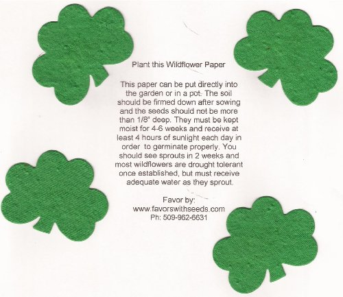 16 Small Plantable Shamrock Shapes in a Bag
