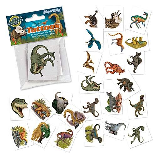 Neu: 24 Mini-Tattoos * Dinos & T-REX * von Lutz MAUDER | Dinosaurier Saurier Geschenk Tattoo Kindertattoos