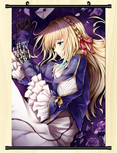 WYTX Violet Evergardenwandrolle Posteranime Cartoon personaje Poster Home Decor Anime Poster Lienzo impermeable colgante pintura