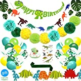 69 Pack Dinosaur Party Supplies Little Dino Party Decorations Set for...