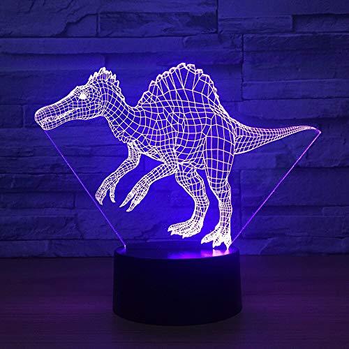 3D Dinosaur LED Desk Lamp USB Animal Night Light Multicolor 3D Slide Light for Living Room Decoration Atmosphere Light