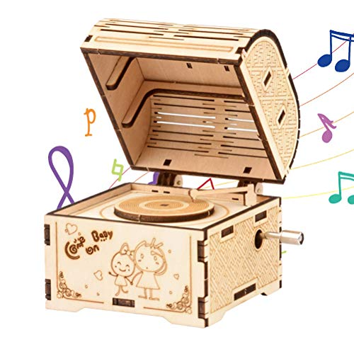 YIPUTONG Holzpuzzles Klassische Spieluhr, 3D DIY Montage Puzzle Spieluhr Stereo-Baugruppe Modell DIY Holzbausatz Puzzles Holzspielzeug für Erwachsene und Kinder