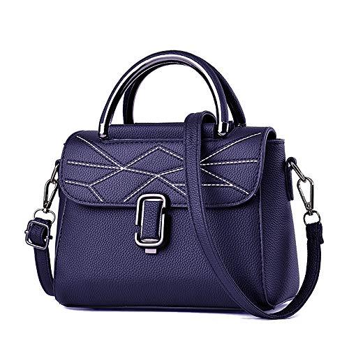 Nevenka Women Handbags Messenger Crossbody Shoulder Bag PU Leather Pocketbooks (JH820-Blue)