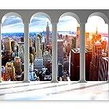 murando Fotomurali adesivi New York 343x256 cm carta da parati autoadesiva - carta da parati moderna - fotomurale - carte da parati Citta City Manhattan d-C-0075-a-a