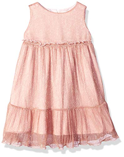 Gymboree Girls' Big Sleeveless Dressy Woven Dress, Rose Gold Tiered, 3T