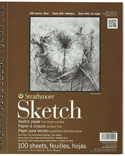 Strathmore 455-3 Drawing & Sketch Paper, White (3 Pack)