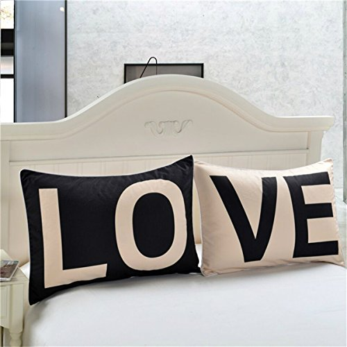Warmht Couples Pillowcases Romantic Gifts for Him for Her for Valentines Day, Anniversary, Wedding 30 X 20inches (Love)