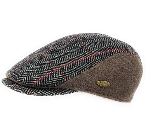 Fiebig Herren & Damen Schiebermütze Cap Mütze Flatcap 42167 (Braun, 60 cm)