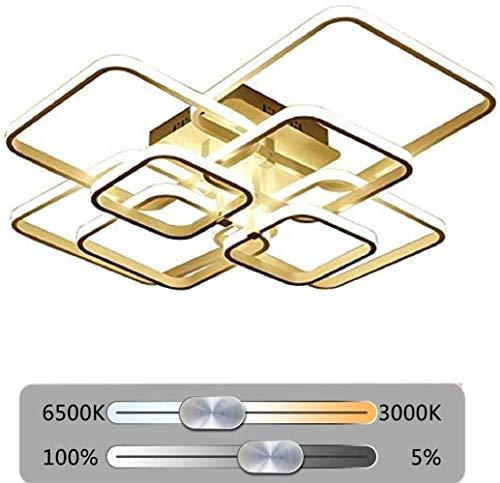 Lampada Da Soffitto A LED Dimmerabile Con Telecomando Lampada Da Soggiorno Lampada Da Soffitto Creativa Atmosferica Moderna Lampada Da Soggiorno Da Pranzo Risparmio Energetico Del Metallo 3000K-6500K