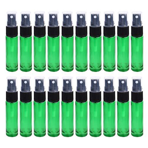 Beaupretty 20St Lege Heldere Fijne Mist Verstuiver Glas Spray Reizen Parfumfles Hydraterende Lege Fles Draagbare Make-Up Tool Groen
