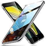 ESR Funda Transparente HD para iPhone SE 2020/8/7 [Resistente Arañazos][Resistente Amarilleo][Parte Trasera Cristal Templado 9H][Marco Parachoques TPU Flexible][Absorción Golpes] Transparente