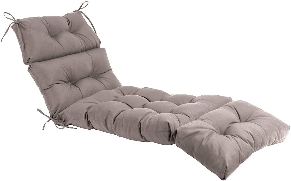 QILLOWAY Indoor//Outdoor Chaise Lounge Cushion,Spring//Summer Seasonal Replacement Cushions. Beige//Sand//Camel