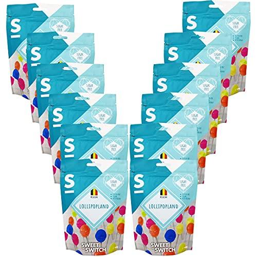 SWEET-SWITCH® – 12 x 100 g – Lollipopland – Fruit Lollipops – 144 Lollies – Lolly – Snoep – Fruit – Suikervrij…