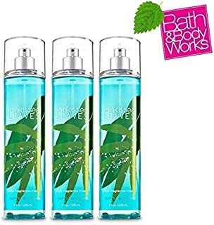 Bath and Body Works RAINKISSED LEAVES Value Pack Lot of 3 Fine Fragrance Mist. - Full Size