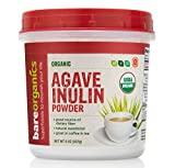 BareOrganics Agave Inulin Powder | Keto & Paleo | Organic, Vegan, Non-GMO, Gluten-Free, 8oz