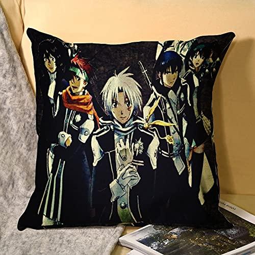 D. Gray Man - Funda de Almohada de Anime grupal Funda de Almohada Suave Decorativa para el hogar para la Cama Dormitorio Sala de Estar Funda de Almohada Funda de cojín para sofá de Lona 45x45c