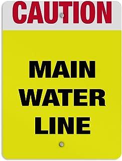 Kent Sparks Warning Tin Sign Main Water Line Hazard Hazard Label 12 x 8 Aluminum Metal