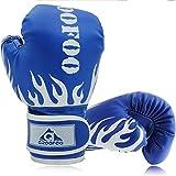 GROOFOO Guantoni da Boxe per Bambini 4oz Guanti da Boxe Sparring Allenamento per MMA Muay Thai Kick Boxing età da 3 a 6 Anni Blu