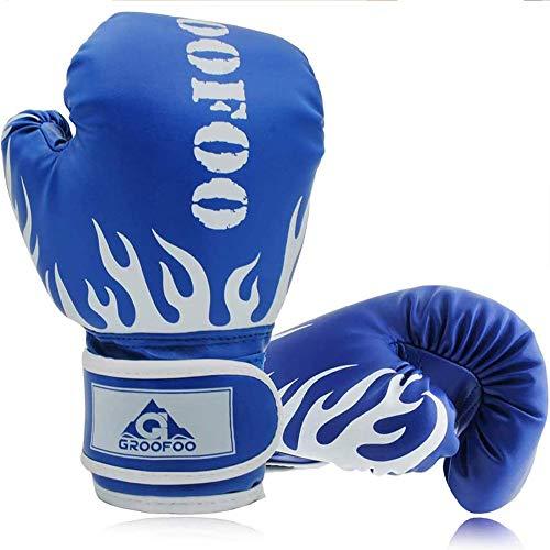 GROOFOO Kinder Boxhandschuhe für Kinder Boxsack Sparring Training, 6oz fit 3 bis 14 Jahre - Blau