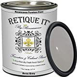 Retique It Chalk Furniture Paint by Renaissance DIY, 32 oz (Quart), 04 Dove Grey, 32 Ounces