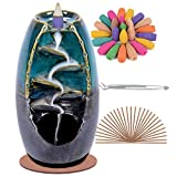 SPACEKEEPER Ceramic Backflow Incense Holder Waterfall Incense...