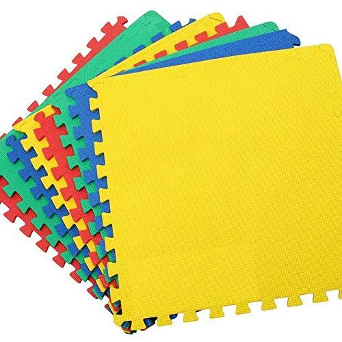 Bakaji Tappeto Puzzle 8 pezzi 60 x 60 cm Multicolore in morbida gomma EVA resistente, isolante, lavabile, Tappetino da gioco per bambini Superficie Colorata per Giocare, 8 Tasselli Maxi 126 x 246 cm