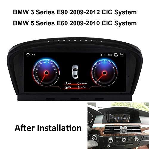 Car Stereo Jefe Unidad de navegación por satélite para BMW Serie 3 Serie E90 E60, E60 Navegación GPS Reproductor Multimedia Receptor de Radio Auto Pantalla táctil carplay DSP RDS