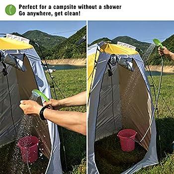Eletorot Douche Portable Camping, Douches de Randonnée Batterie Rechargeable Utilisation pour Voyage et en Camping Van, Plage, Bain de Chien