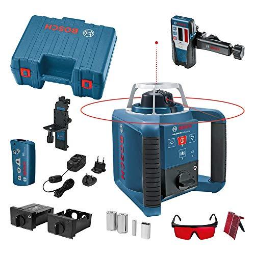 Bosch Professional Rotationslaser GRL 300 HV (rote Laserlinie, Laserempfänger LR 1, Arbeitsbereich: bis zu 300 m (Durchmesser), im Handwerkerkoffer)