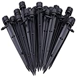 Axe Sickle Set of 50 Drip Emitters Perfect for 4mm / 7mm Tube, Adjustable 360 Degree Water Flow Drip Irrigation System for Watering System.