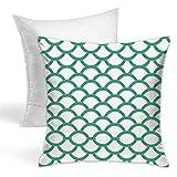 Almohadas decorativas de color crema con diseño de mosaico, de terciopelo grueso, para sofá, cama, sofá o coche.