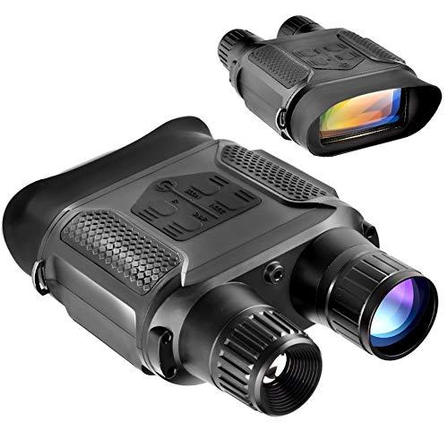 Prismáticos digitales de visión nocturna de 7 x 31 mm-400 m/1300 pies y alcance infrarrojo de la pantalla de visualización de 4 pulgadas en la oscuridad completa