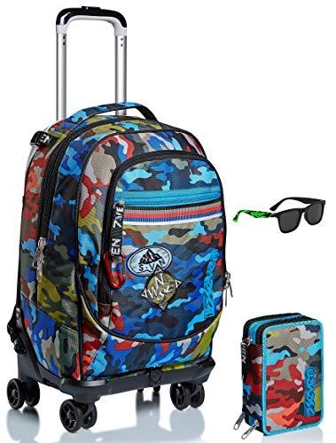 kit occhiali Kit scuola - Trolley Jack 4WD SEVEN + ASTUCCIO + OCCHIALE DA SOLE - ADVENTURE CAMO