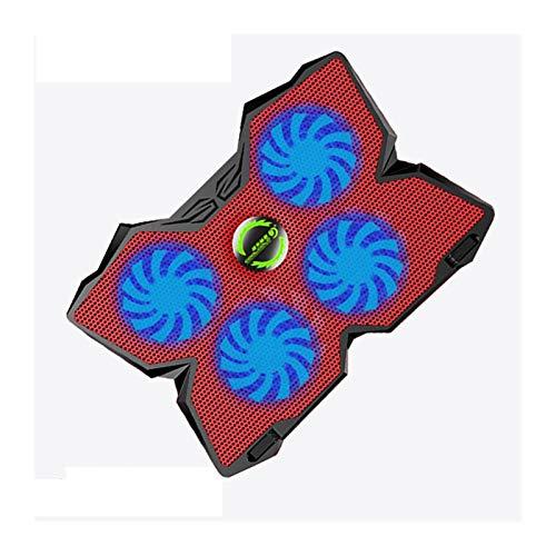 yingweifeng-01 Fan Potencia USB Ultra-Thin Notebook Portátil Radiador De La Almohadilla De Enfriamiento con LED Cuatro Ventiladores Laptop De 17 Pulgadas R20 Ordenadores (Color : Red)