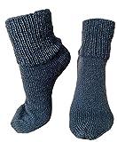 Warme Stricksocken für Kinder | Weiße Wollsocken | Handgestrickt | für Mädchen und Jungen | Babysocken (24-26, Ohne Bändchen, Blau)