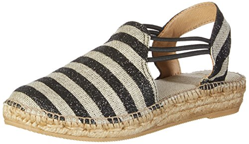 Brax Damen Torino Sandal Slingback, Mehrfarbig (Nero Combi), 36 EU