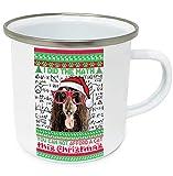 teesquare1st Christmas Afghan Hound 2 10oz Tazza da Caffe Natalizia/Tazza di Natale