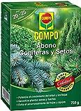 COMPO 750 g Abono setos de Larga, Tipo de coníferas y Plantas de Hoja perenne, 6 Meses de duración, Negro