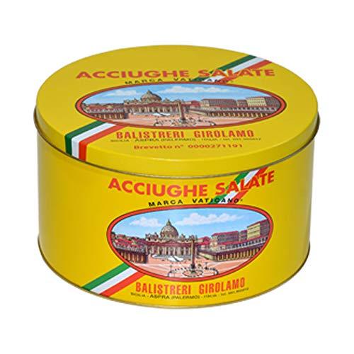 Filetti di Acciughe Salate Marca Vaticano Mar Mediterraneo - Confezione da 5 Kg
