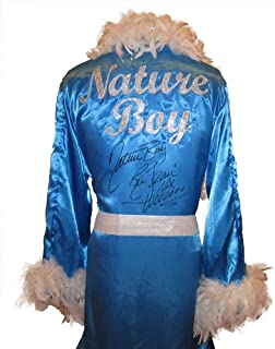 Ric Flair Signed Baby Blue Robe & White Feathers w/ Nature Boy,16x & Wooooo Inscription