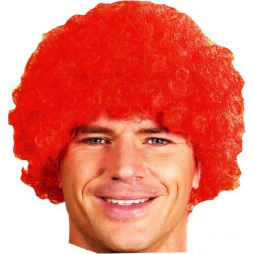 Perruque de clown rouge - unique