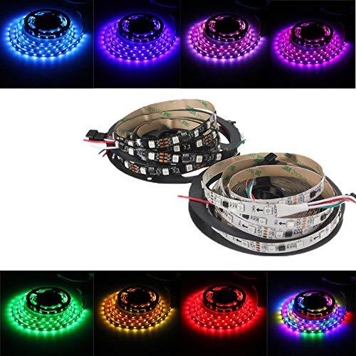 takestop® LED-strip 1 meter strip 30 LED-achterlichten achtergrondverlichting, kleurrijk licht RGB met praktische 5050 SMD TV PC