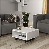 Heera Moti Corporation Box Coffee Table/Sofa Table/Center Table for Living (Finish :-White pre-Laminated Matt)