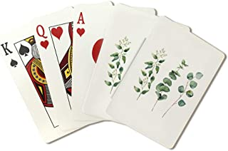Watercolor Eucalyptus Branches Illustration A-91498 (Playing Card Deck - 52 Card Poker Size with Jokers)