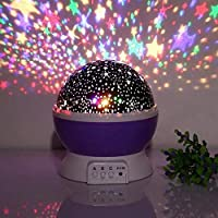 Tons of color options! you can choose between one or multiple colors at once, totally depends on your mood! With a 360-degree rotation feature, the stars will mesmerize people of all ages. Project stars and moon spinning on the ceiling and wall, rota...